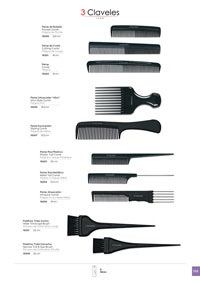 objects personal hygiene COMBS