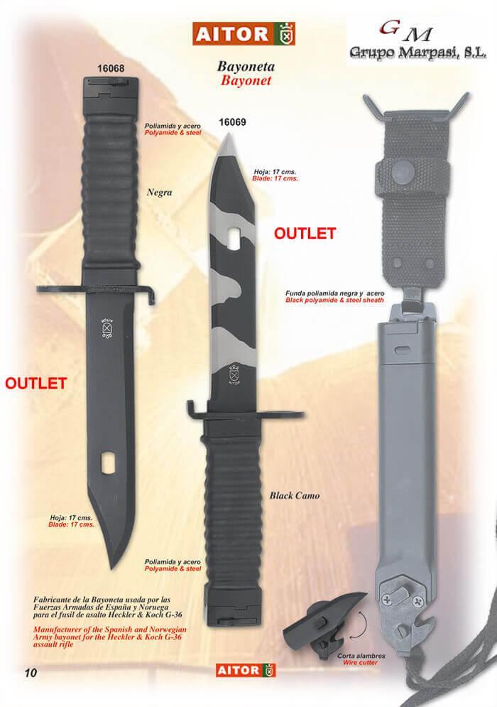 Bayoneta Aitor Cuchillos Tacticos Y Caza Tacticos