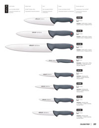 professional knives cook BUTCHER KNIVES COLOUR PROF