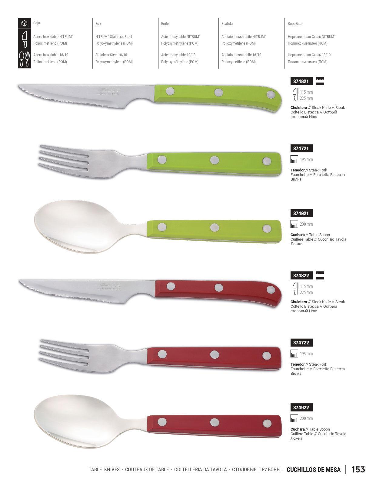 374825 cuchillos de mesa arcos menaje cocina cuchillos cocina cuchilleria albacete - Cuchillos de cocina arcos ...
