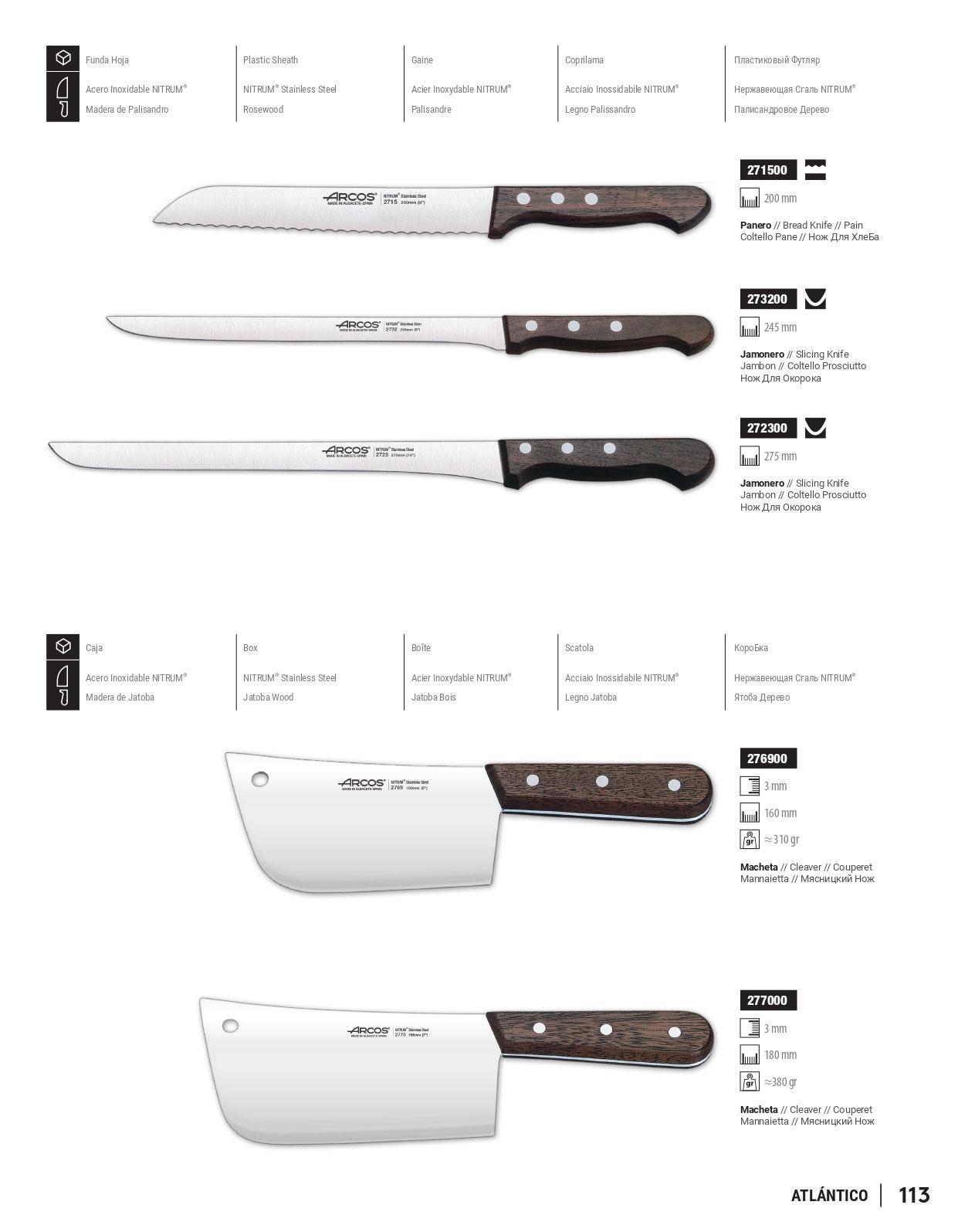 Coltelleria professionale macellaio palisandro 3 arcos - Coltelli da cucina ...