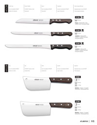 professional knives butcher KITCHEN KNIVES PALISANDRO