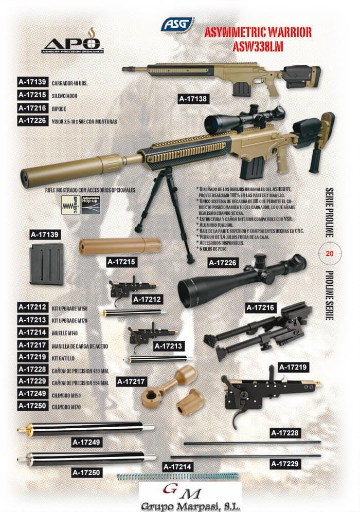 Ashbury Asw338lm Sniper Asg Airsoft Rifles Cutlery