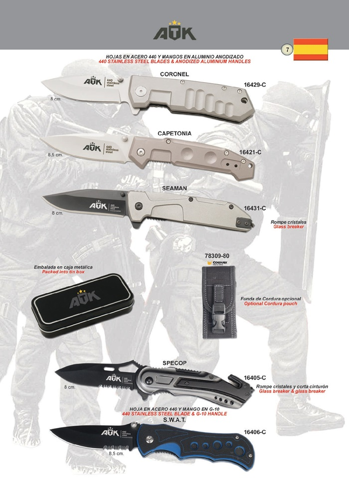 TACTICAL POCKET KNIVES ATK 08 - ATK