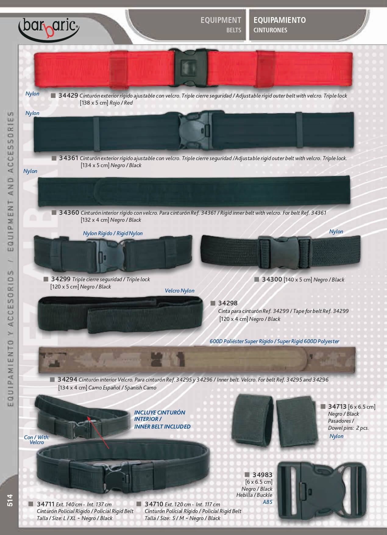 34429 - EQUIPMENT BARBARIC Barbaric - objects personal belts - Cutlery 8331eb393e49