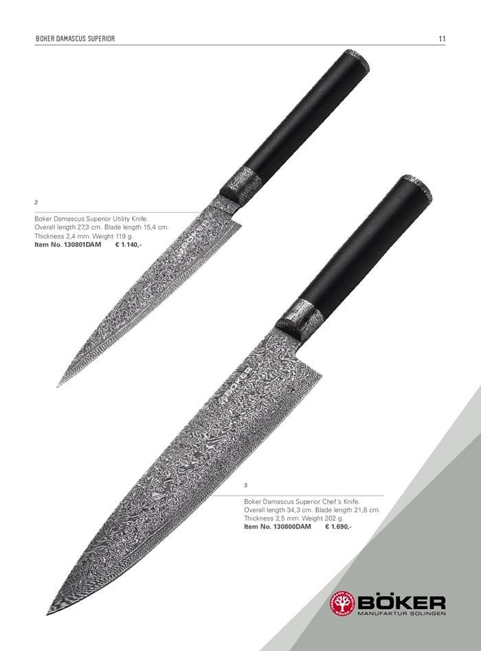 Boker Damascus Superior Boker Professional Knives Cook 130801dam Cutlery