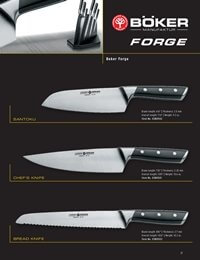 professional knives cook BOKER FORGE