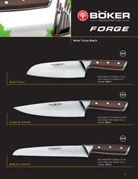 professional knives cook BOKER FORGE WOOD