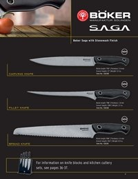 professional knives cook BOKER SAGA KITCHEN KNIVES