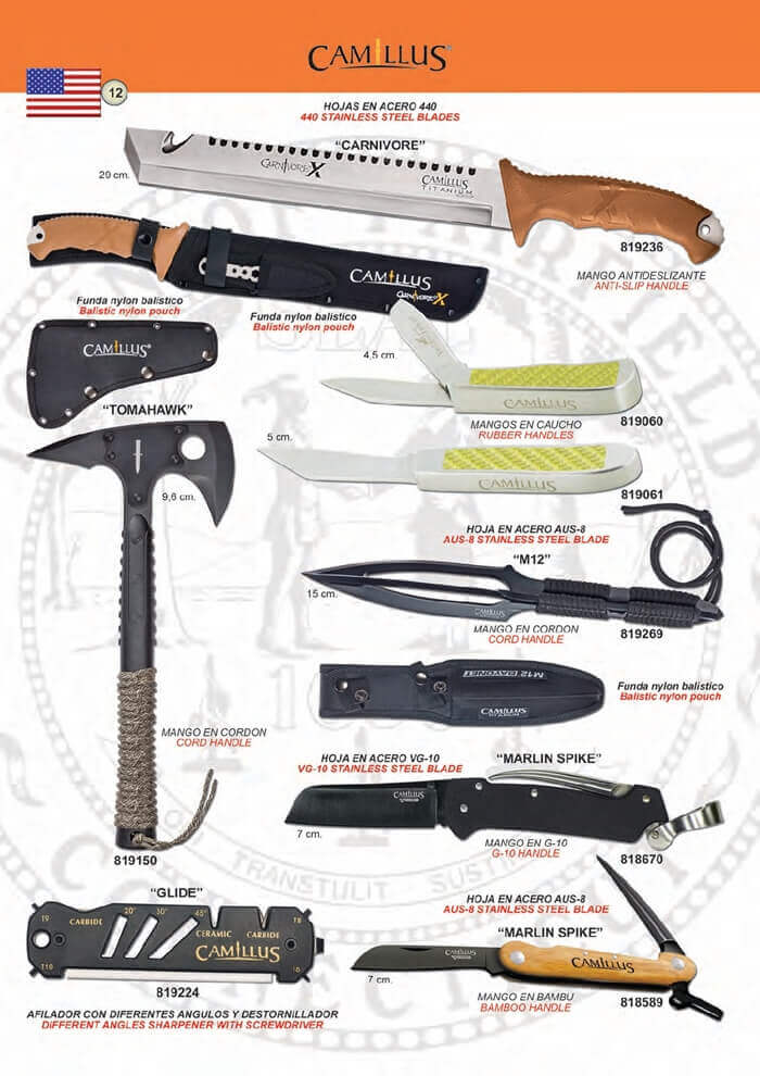 CARNIVORE Y TOMAHAWK 🔪 Camillus - hunting knives mount