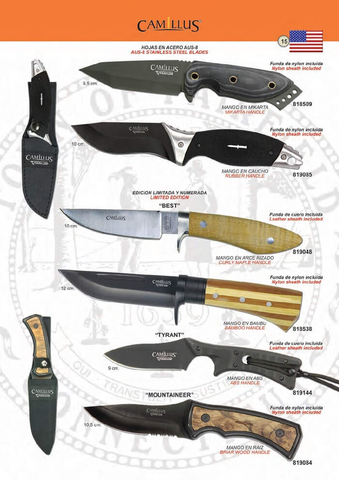 819144 cuchillos tacticos camillus camillus cuchillos for Clases de cuchillos de mesa