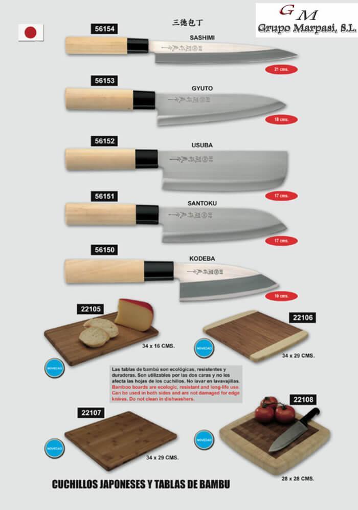 56152 cuchillos japoneses crossnar cuchilleria for Clases de cuchillos de mesa