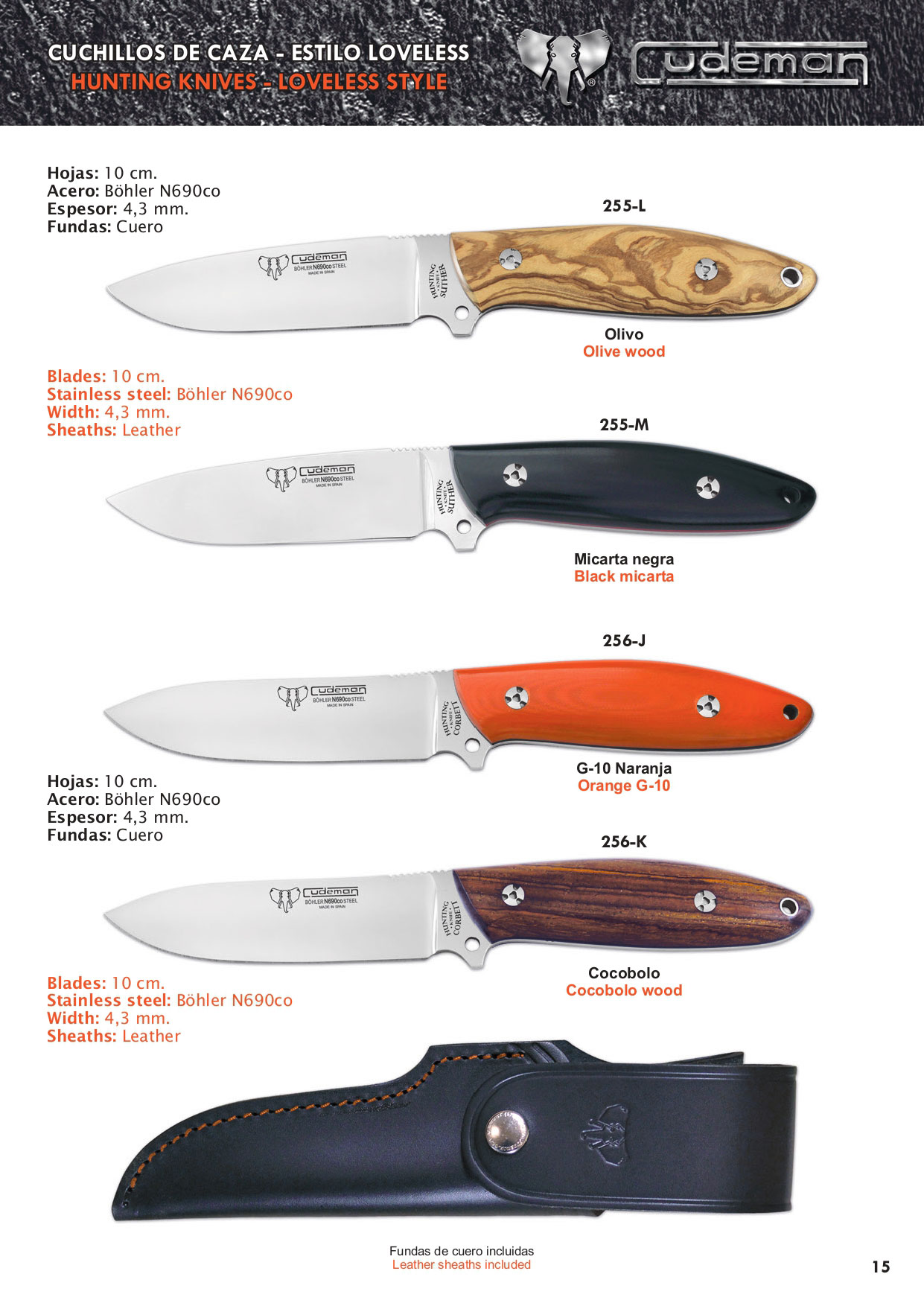CORBETT AND SUTHER HUNTING KNIVES  - Cudeman