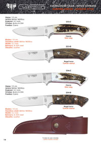 CUDEMAN SELOUS AND AKELEY HUNTING KNIVES