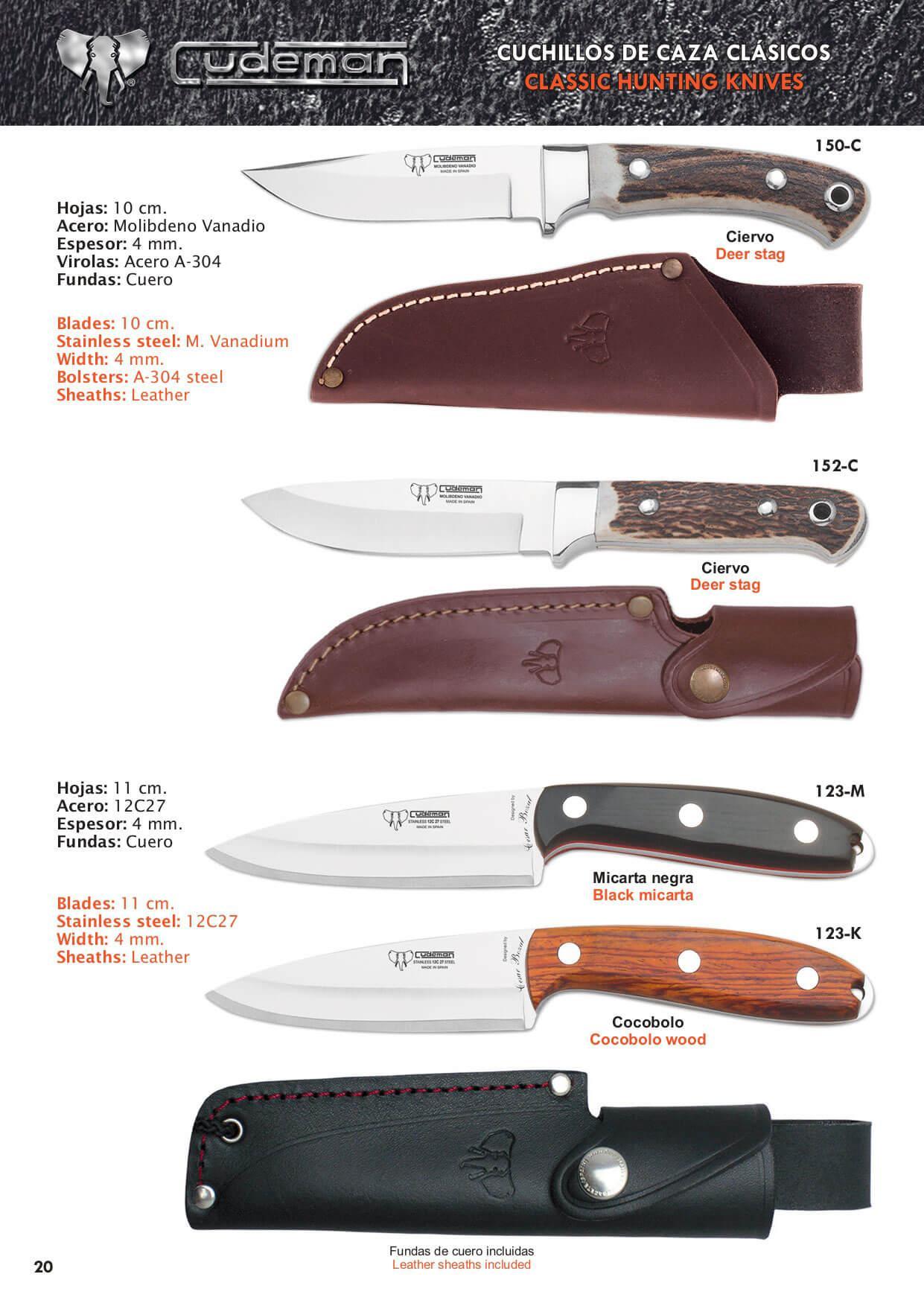 290 r cuchillos de caza cudeman cuchillos tacticos y for Clases de cuchillos de mesa