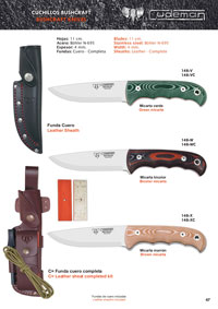 CUDEMAN CUCHILLOS SUPERVIVENCIA BUSHCRAFT