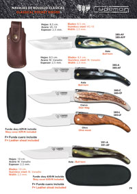 CUDEMAN CLASSICAL KNIVES