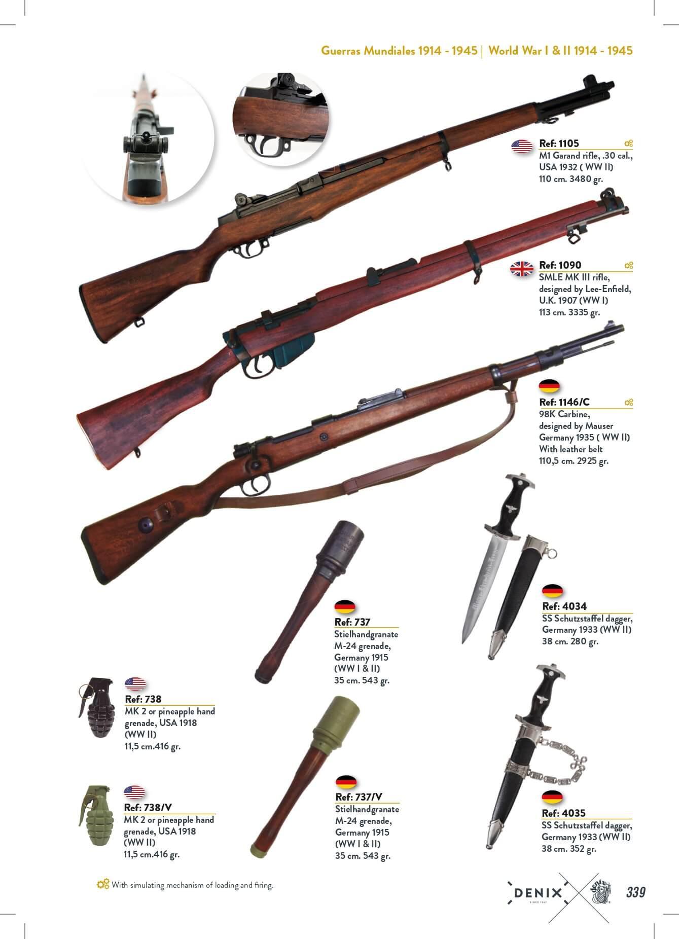 AMETRALLADORAS Y GRANADAS - arms antique replicas - Denix