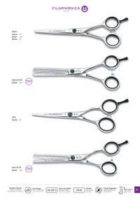 FILARMONICA HAIRDRESSING SCISSORS CONCAVE