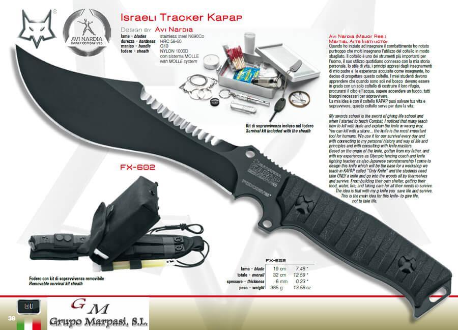 Fx 602 israeli tracker kapap cuchillo fox military for Coleccion cuchillos el mundo