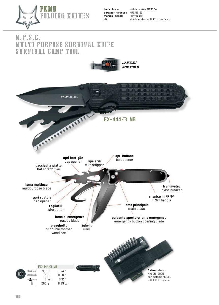 couteau de survie multifonction