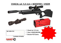 GAMO CHACAL PACK WITH BOOSTER AND VIEWFINDER