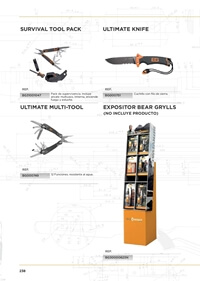 COUTEAUX POLYVALENT OUTILS BEAR GRYLLS