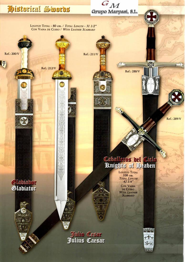 289V HISTORICAL SWORDS 2 Gladius Swords Cutlery