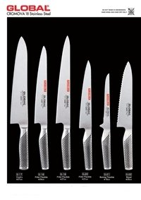 professional knives cook GLOBAL FORGED JAPANESE KNIVES