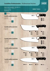 professional knives  TOOLS SERIES BUTCHERS KNIVES