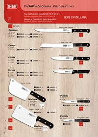professional knives cook CASTELLANA SERIES KITCHEN KNIVES