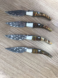 ISIDRO EXPOSITO POCKET KNIFE GOAT DEER BLADE DROP