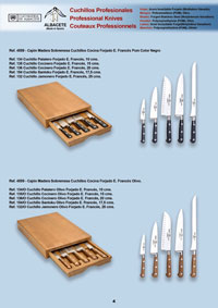 professional knives  WOODEN TABLE DRAWERS
