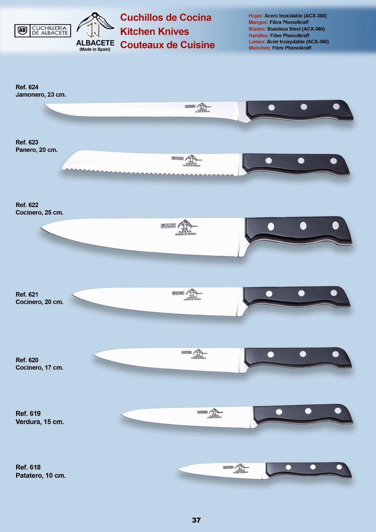 Menaje cocina cuchillos cocina cuchillos cocina 3 jj for Cuchillos cocina