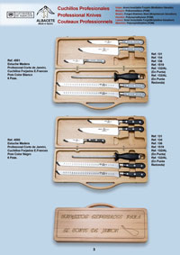 professional knives  PROFESSIONAL WOODEN CASES