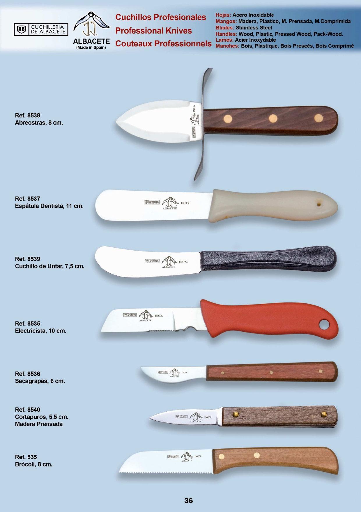 8538 utiles profesionales jj cuchilleria menaje cocina for Cuchilleria profesional cocina