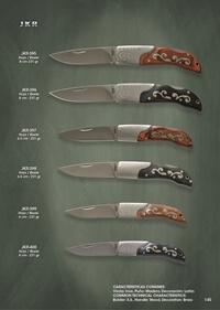 JKR FOLDING KNIVES WITH BRASS DECORATION