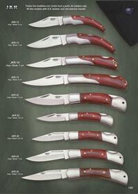 JKR FOLDING KNIVES SPORT RED WOOD