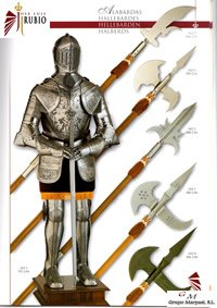 swords axes halberds ARMORS HALBERDS