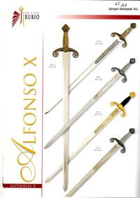 swords SWORDS ALFONSO X