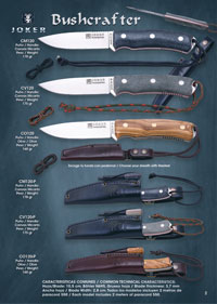 couteaux chasseurs BUSHCRAFTER