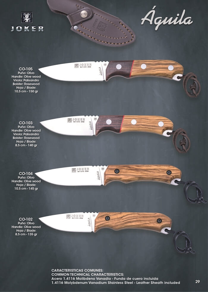 AGUILA HUNTING KNIVES - Joker