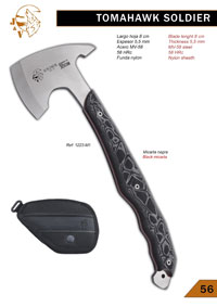 hunter messer achsen TOMAHAWK SOLDIER