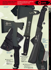 tactical knives  AXE AND MACHETE TACTICOS K25