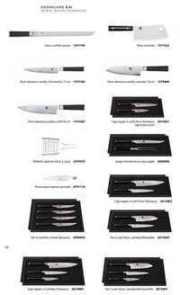 professional knives cook KAI SHUN DAMASK KNIVES