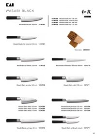 professional knives cook JAPANESE KNIVES WASABI BLACK