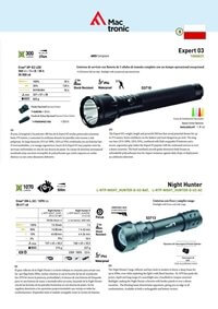 camping and survival  EXPERT 03 AND NIGHT HUNTER FLASHLIGHTS