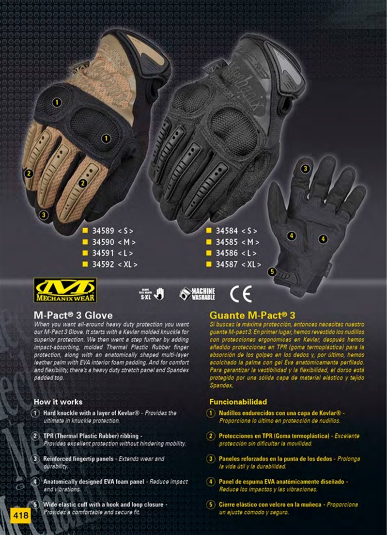 GUANTES TACTICOS MECHANIX WEAR - MARTINEZ ALBAINOX