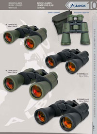 hunting and observation  BINOCULARS RUBY LENSES