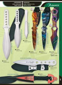 MARTINEZ ALBAINOX SINGLE EDGED THROWER KNIVES